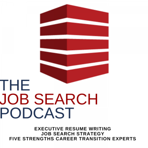 The Job Search Podcast Logo 5 stacked red blocks